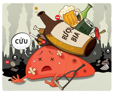 1. Những sai lầm trong thói quen sử dụng bia rượu – nguy cơ hàng đầu gây xơ gan 1