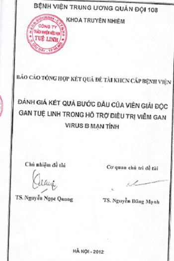 1. Sản phẩm đầu tiên được nghiên cứu lâm sàng cho kết quả âm tính với virus 1